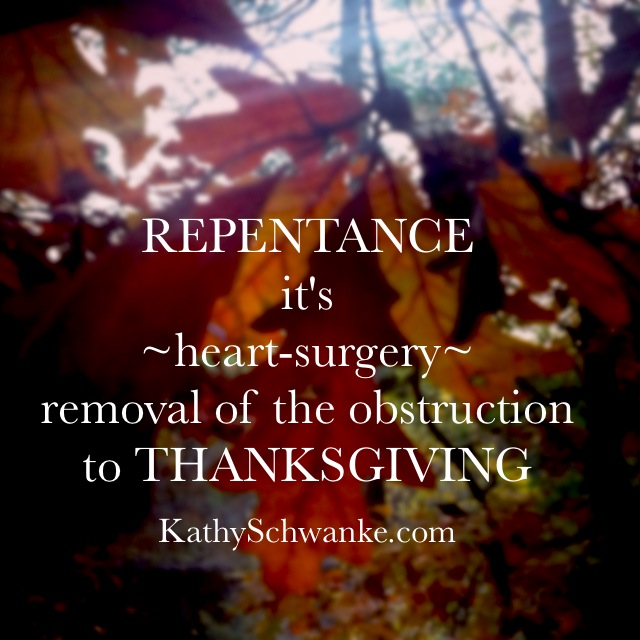 Removal of a Heart-Obstruction: Freed to Give Thanks