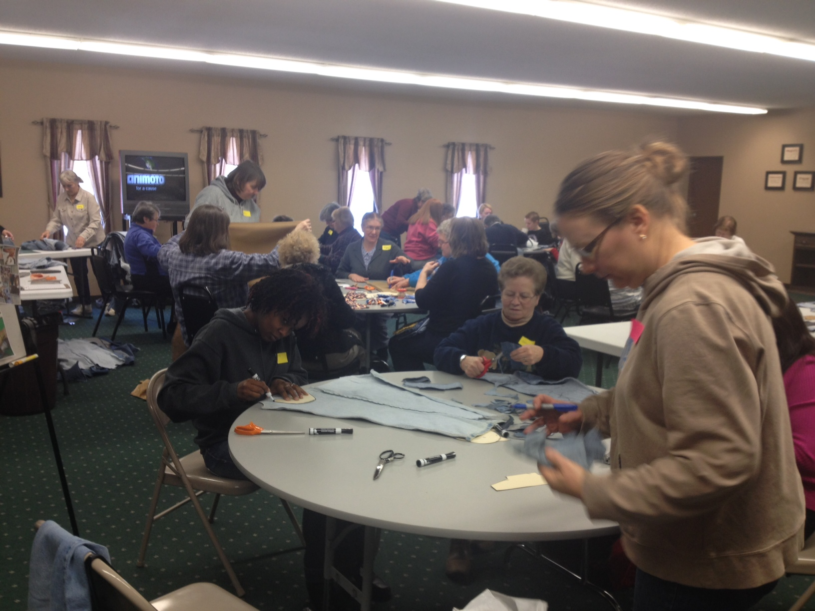 Sole Hope Shoe Cutting Party on a Cold Day in Wisconsin – Helping Cover Feet In Uganda With Our Cast-off Denim